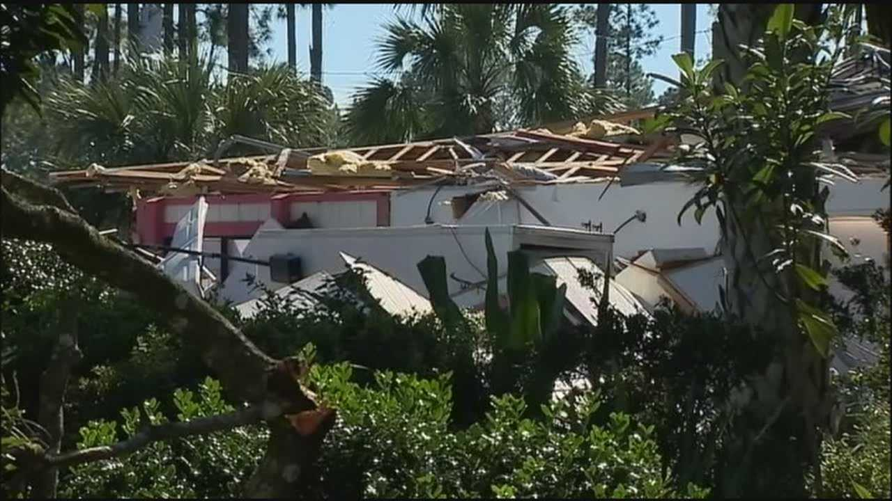 A National Weather Service meteorologist said a tornado caused damage in parts of Palm Coast on Saturday night.
