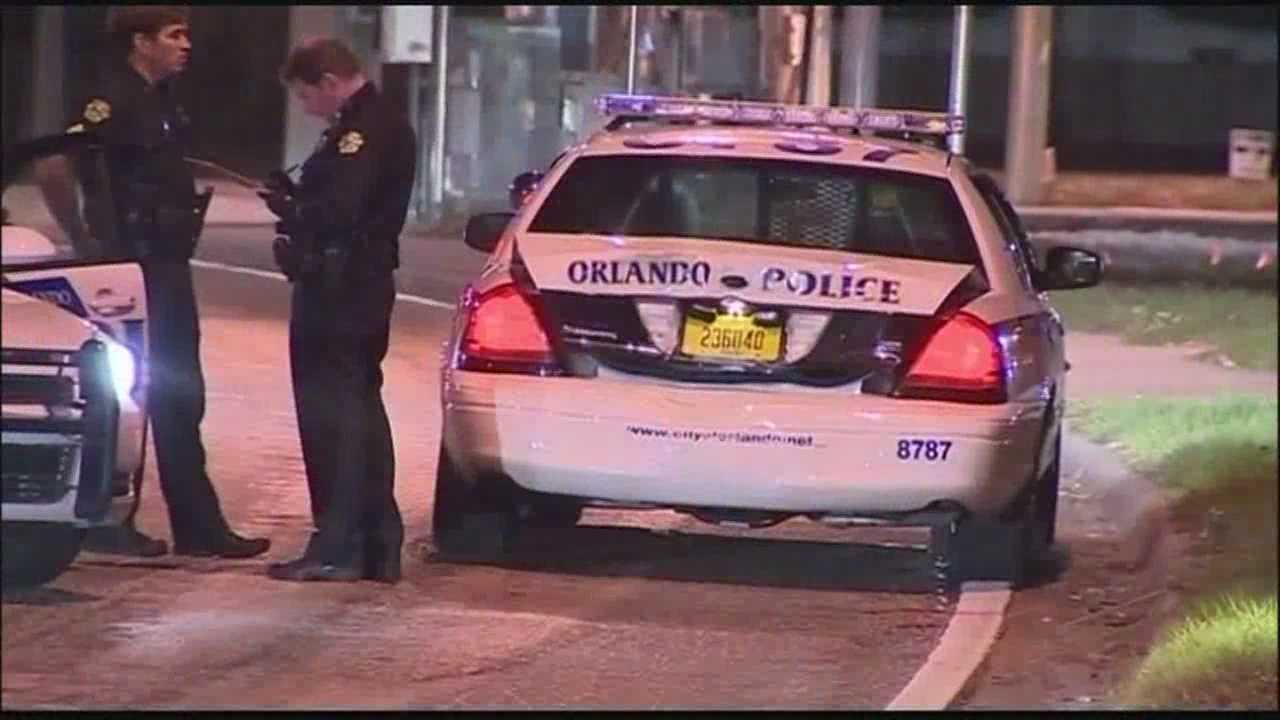 A tractor-trailer driver hit two cars this morning, including an Orlando police car.