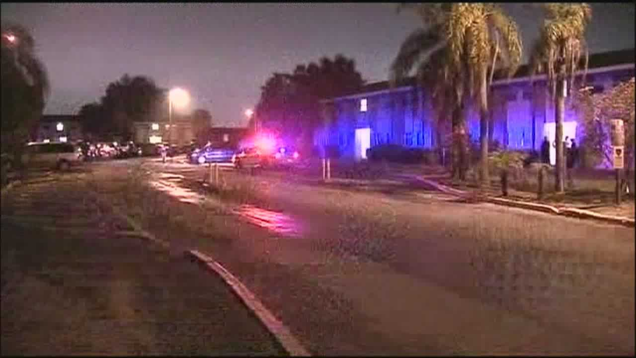 A shooter is on the loose after killing a woman and injuring a man Wednesday evening in Orlando.