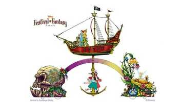 """4. This spring, Magic Kingdom will be presenting the """"Disney Festival of Fantasy Parade."""" This parade will feature floats inspired by favorite Disney movies."""