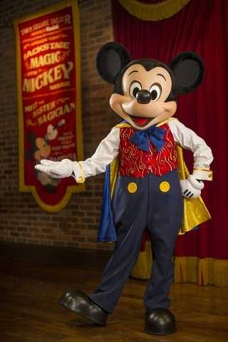 7. Mickey Mouse will be wearing his magicians hat at Magic Kingdom Park. If you want to see some of his tricks, Town Square Theater is where you need to be.