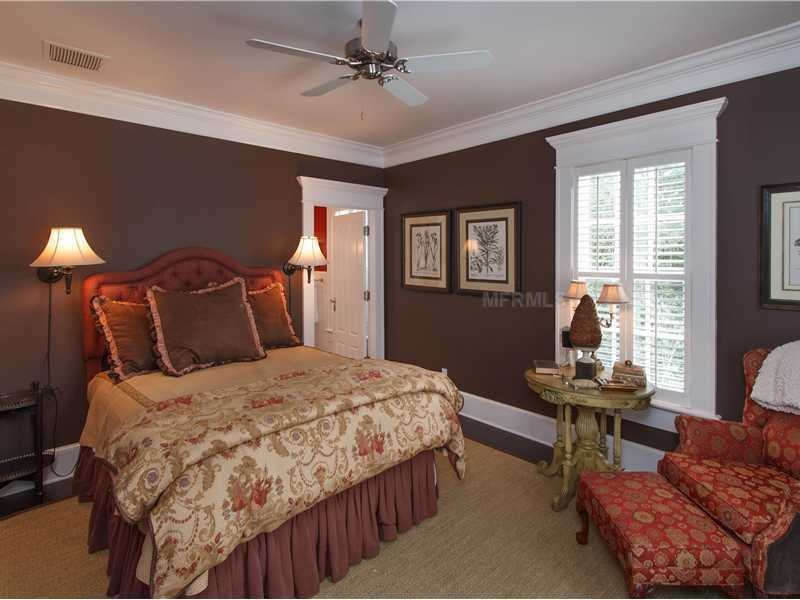 One of five remaining guest bedrooms.