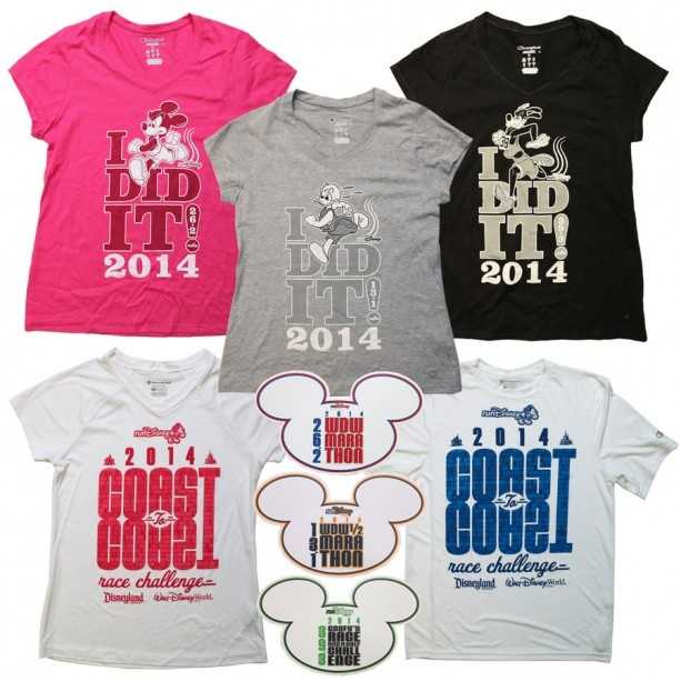"""""""I Did It,"""" shirts with course maps printed on the back are new in 2014, along with """"Coast to Coast Challenge,"""" T-shirts."""