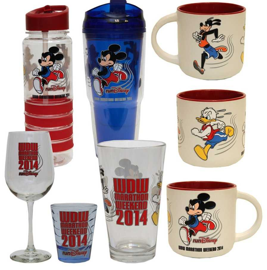 Drinkware featuring Donald Duck, Goofy and Mickey Mouse will be available for the marathon weekend.