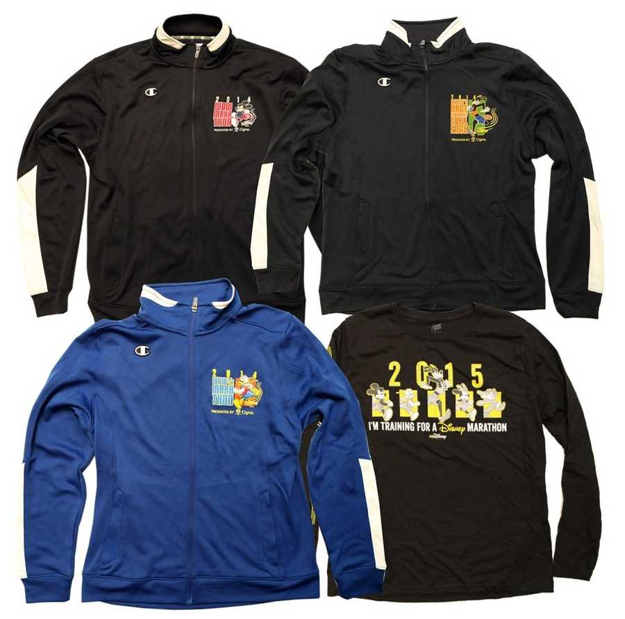 Long-sleeved options can be purchased while at the event.
