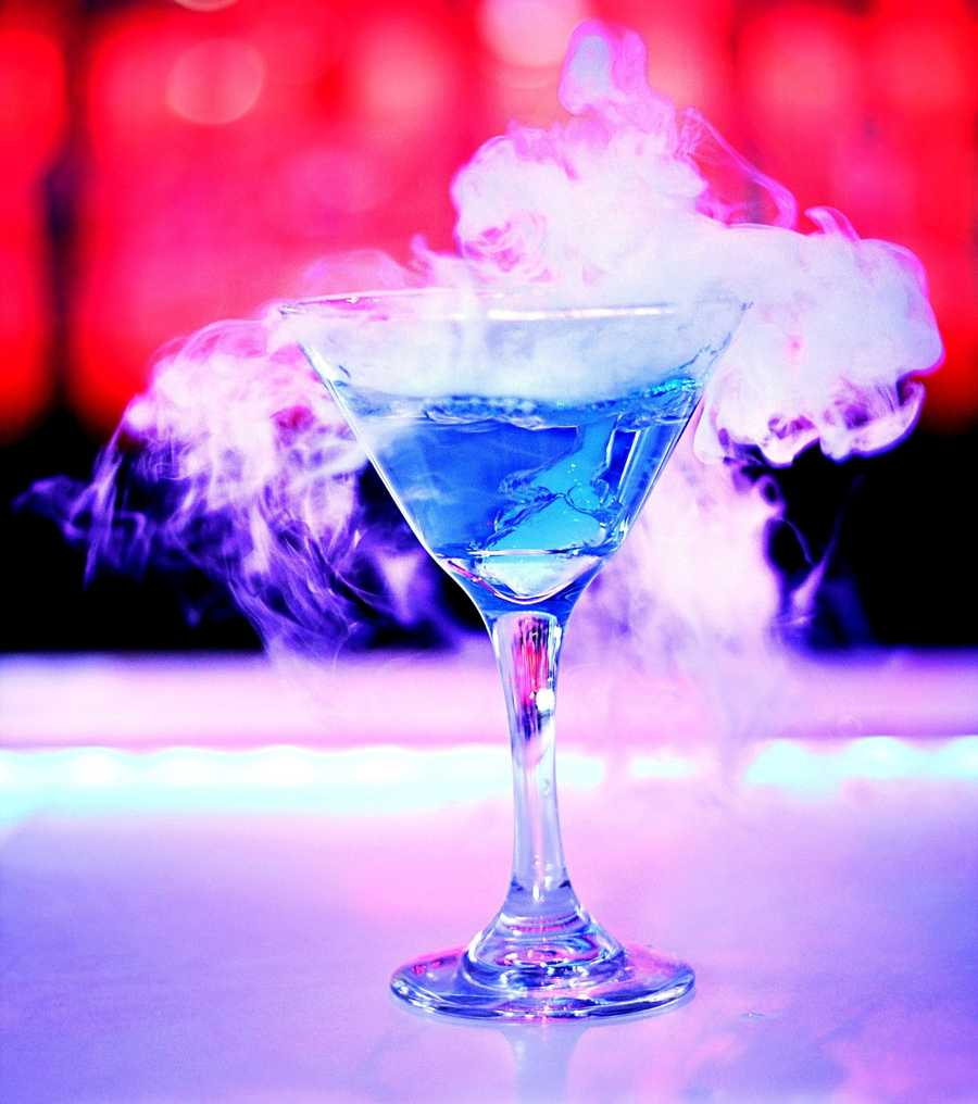 1. ICEBAR Orlando's  Fire Lounge serves the coolest drinks in one of the hottest lounges on I Drive. Their Arctic Frost Martini adds dry ice and a mysterious fog to your perfect blue cosmo.