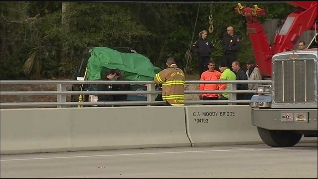 A man is dead in Port Orange after driving off a bridge at Williamson Boulevard.
