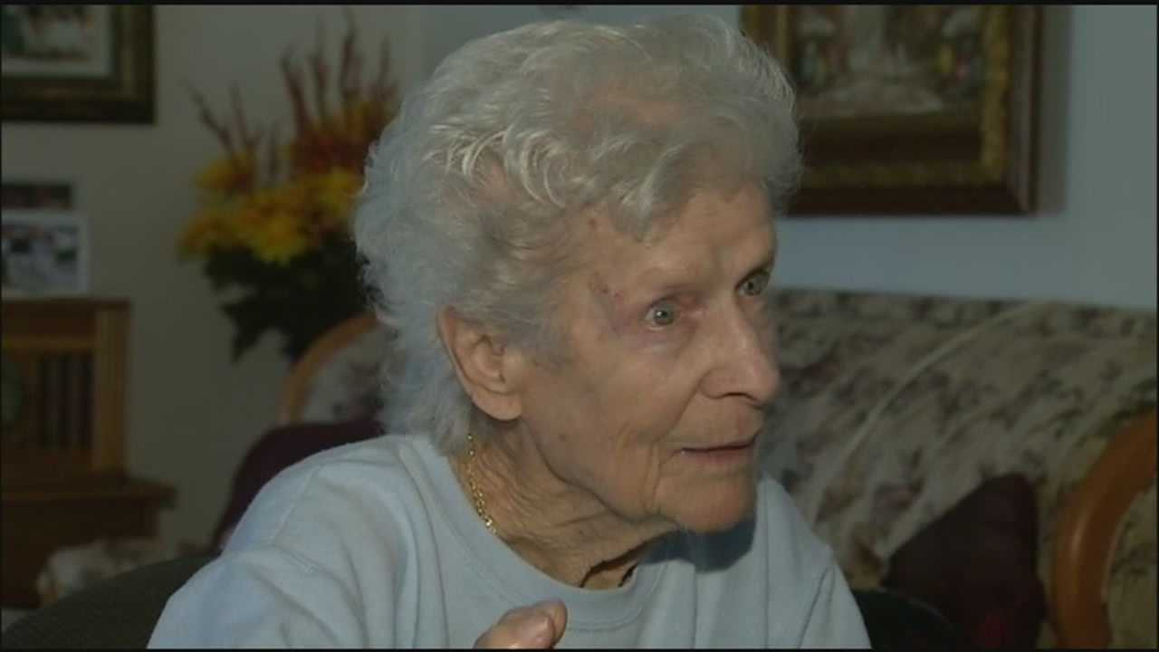 A 96-year-old Lady Lake woman is lucky to be alive after her golf cart exploded in her garage.