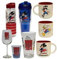 Check out this fun drinkware. They have Mickey, Donald and Goofy on them along with the 2014 Marathon Weekend logo.