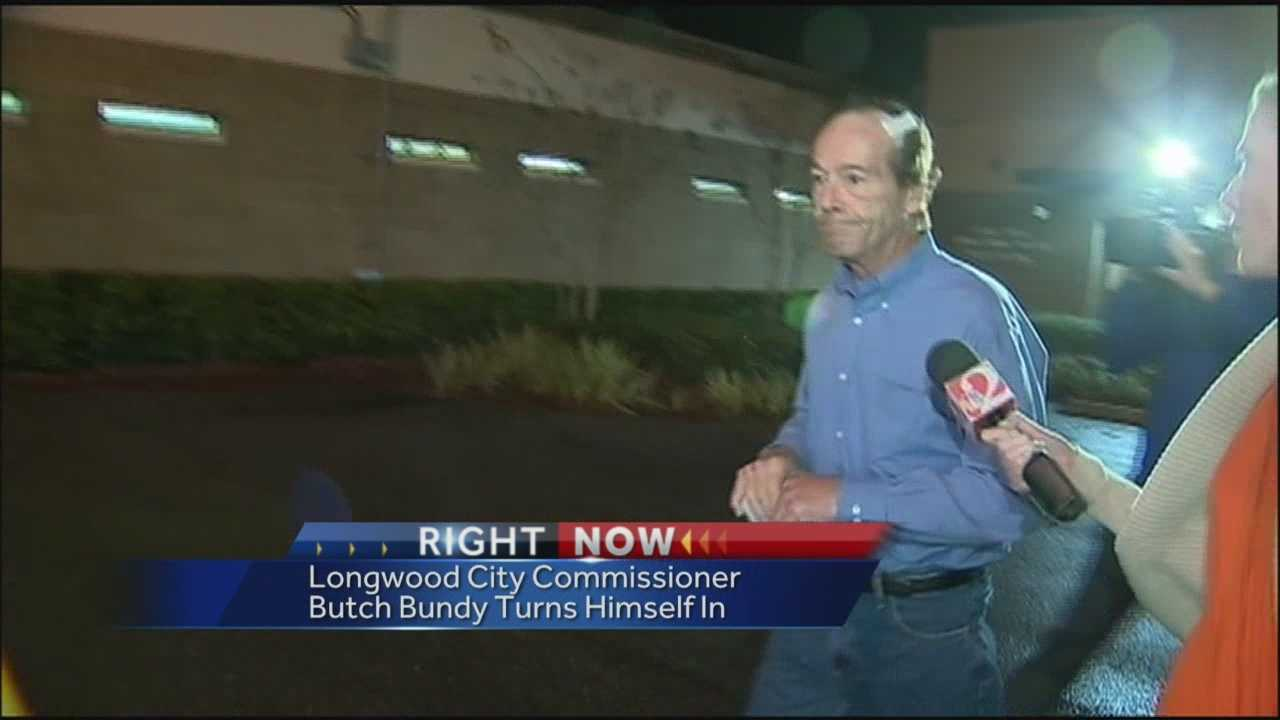 "Longwood city commissioner Haywood ""Butch"" Bundy bonded out of jail overnight following DUI charges stemming from a serious car crash."