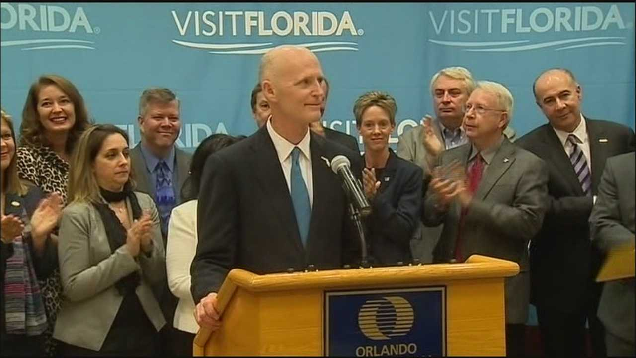 Florida Gov. Rick Scott wants a big boost in the money spent on trying to lure tourists to the state.