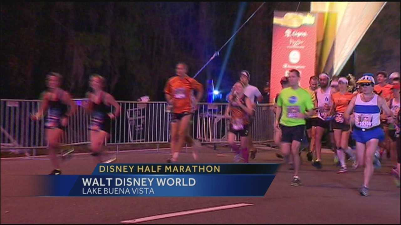 Thousands of weary runners were resting Saturday after an early morning run through Walt Disney World. Runners from around the world took part in Disney's half marathon in the third leg of Disney's 21st annual marathon weekend.