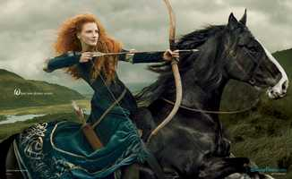Jessica Chastain as MeridaGo behind the scenes of the Disney Dream Portraits and enter the imagination of acclaimed photographer Annie Leibovitz as she transforms celebrities into Disney characters.