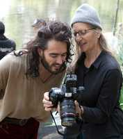 Russell Brand as Captain HookGo behind the scenes of the Disney Dream Portraits and enter the imagination of acclaimed photographer Annie Leibovitz as she transforms celebrities into Disney characters.