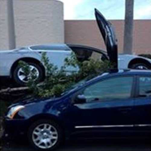 It happened in the Target parking lot in Stuart just after 5 p.m. Tuesday.