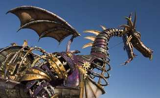 The dragon stretches 35 feet in length and is 26 feet tall.