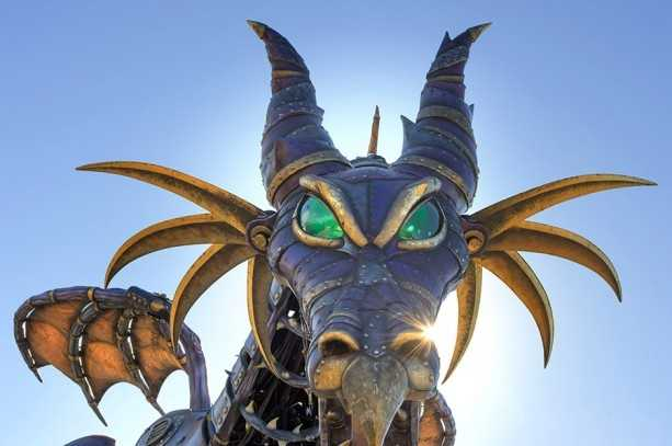 """Tony Award-winner Michael Curry helped to design the dragon. He has previously collaborated with Disney on the """"Tapestry of Nations"""" parade at Epcot and """"Finding Nemo -- The Musical"""" at Disney's Animal Kingdom."""