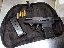 The following are firearms that were confiscated in carry-on bags during 2013 in Orlando.