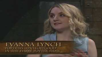 Evanna Lynch plays Luna Lovegood in the films.