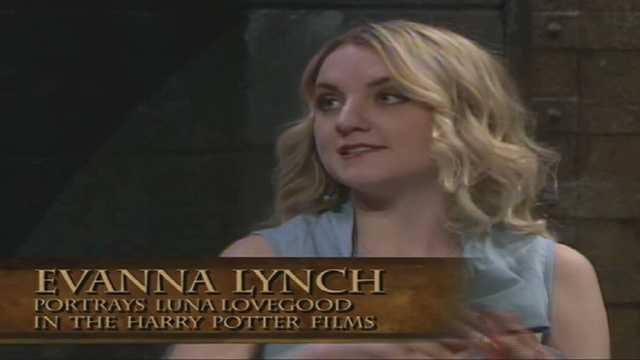 Evanna Lynch plays Luna Lovegood in the films.