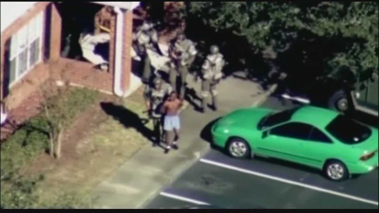 A man who deputies said violated his probation is heading to jail Thursday after barricading himself inside an Orange County apartment.