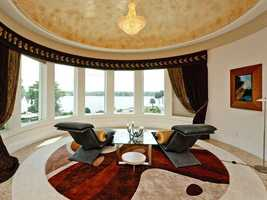 Here is a view of just the seating area in the master bedroom.