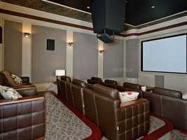 The house also has a home theater.