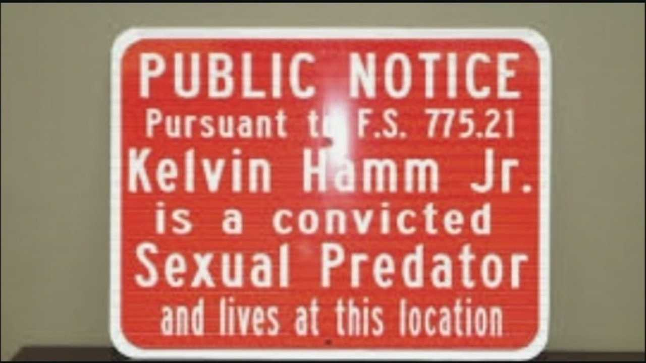 A warning sign may soon be placed in front of the homes of sexual predators in Port Orange.