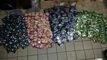 More than 400 packages of synthetic marijuana were seized from a gas station in Lake County.
