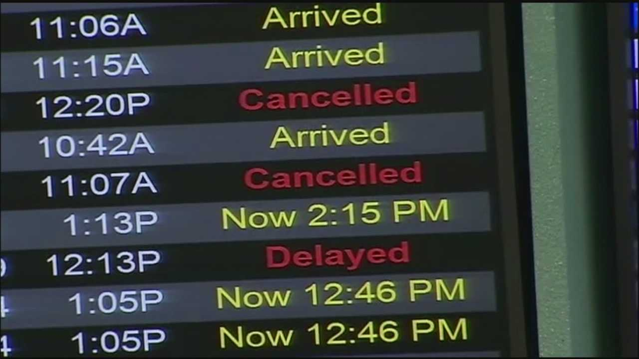 The rough winter storm across much of the country caused 25 cancellations in and out of Orlando International Airport today, as well as 41 delays.