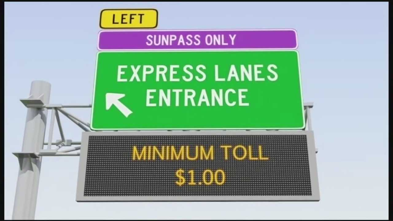 Where will I-4 toll lanes begin?