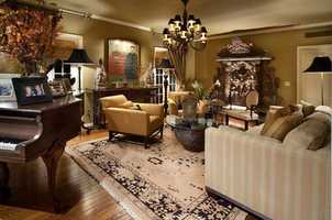 The elegant and spacious living room.
