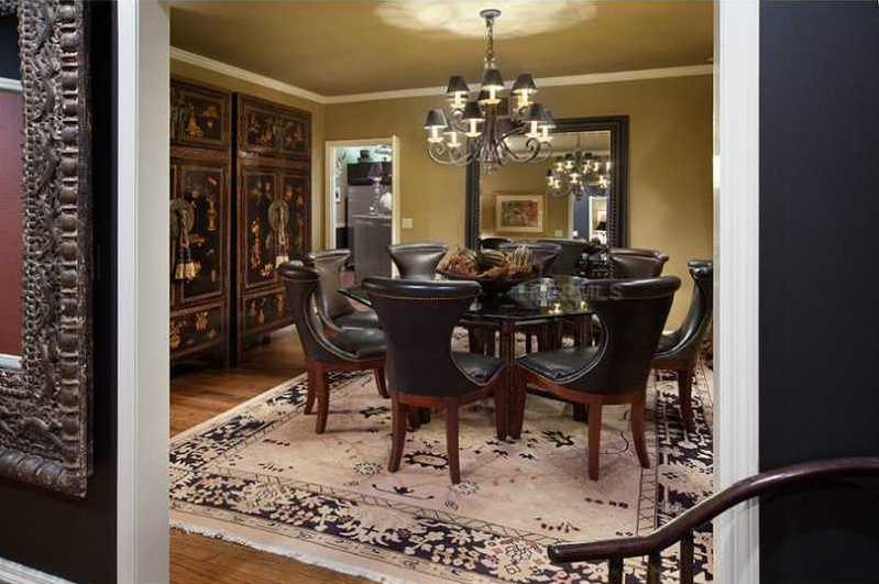 Comfortable and elegant formal dining room.