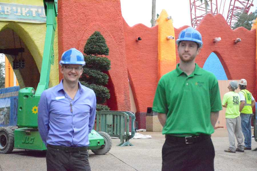 "Orlando My Way was taken on a hard-hat tour of the new section of Busch Gardens, ""Pantopia."""