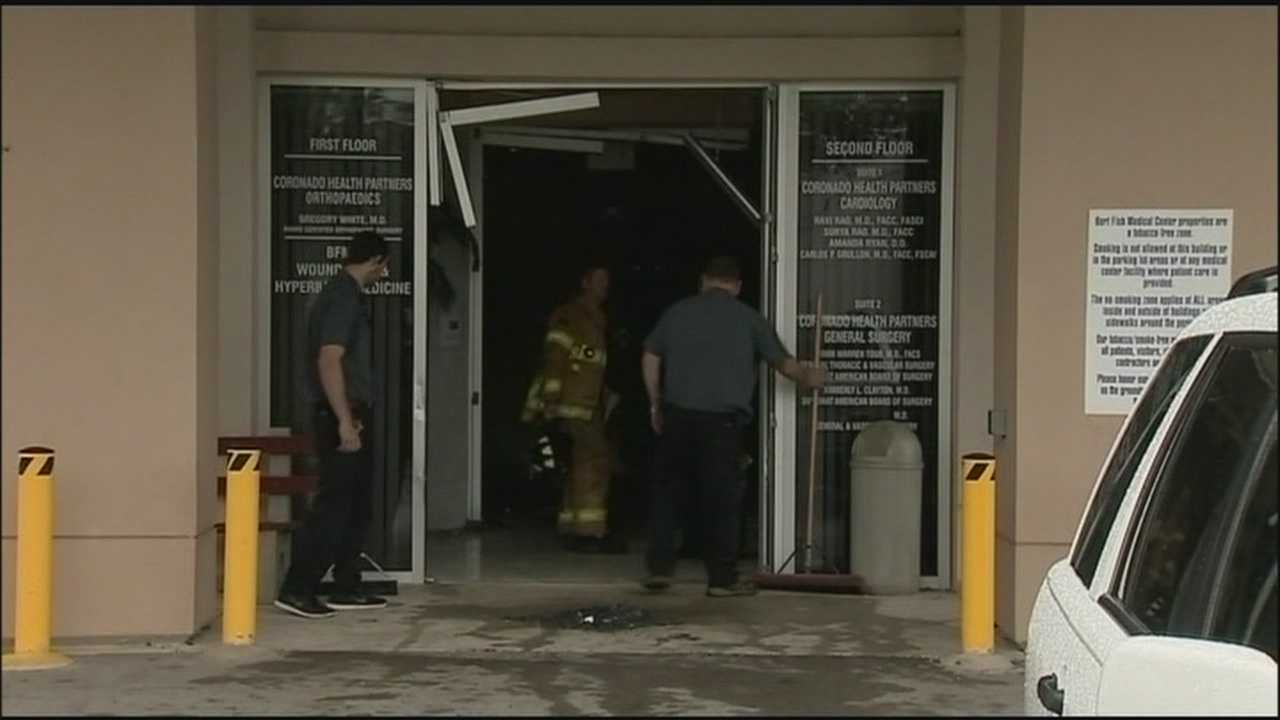One person was killed and three people were hurt after a vehicle plowed into a medical building near Bert Fish Medical Center in New Smyrna Beach.