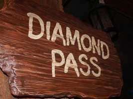 "This sign is part of the new Seven Dwarfs Mine Train ride where guests will feel like they are in ""Snow White."""