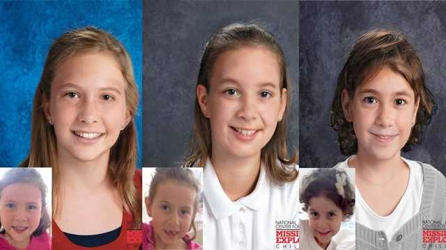Hillary, Nichole & Valerie Cohen, ages now 10, 9 & 7: Missing from Windermere. Hillary is shown age-progressed to 10 years, Nichole is shown age-progressed to 8 years, and Valerie is shown age-progressed to 6 years. They were allegedly abducted by their mother. A felony warrant was issued for Anna on December 18, 2012. They are believed to be in Puerto Rico. The children and Anna are Biracial&#x3B; they are Hispanic and white.