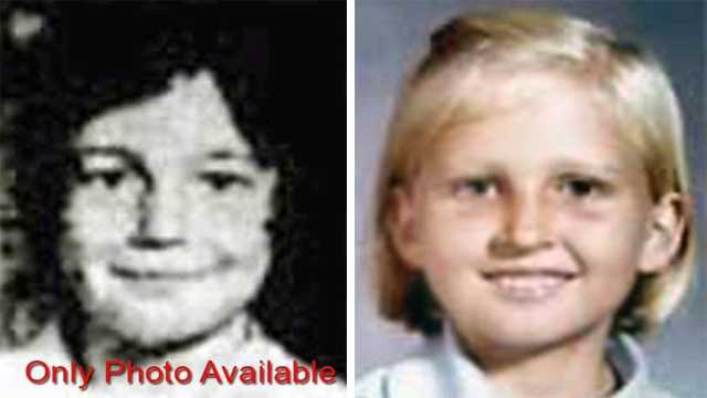 Peggy Rahn & Wendy Stevenson, ages now 53 & 52. Missing from Pompano Beach. Peggy and Wendy Stevenson were last seen together on December 29, 1969. They were near the public beach buying ice cream. Peggy has a small scar under her right eye and a birthmark on her right knee. Wendy has a small mole at the center of her neck and an appendectomy scar. Foul play is suspected.