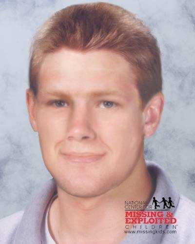 Zachary Bernhardt, age now 22: Missing from Clearwater. Zachary's photo is shown age-progressed to 17 years. Zachary was last known to be sleeping in his bed on the night of September 10, 2000. At approximately 4:00am on September 11, 2000, he was discovered missing and is missing under suspicious circumstances. He goes by the nickname Zach. He has a scar under his chin, a scar between his eyes on the bridge of his nose, and on the right side of his top lip.