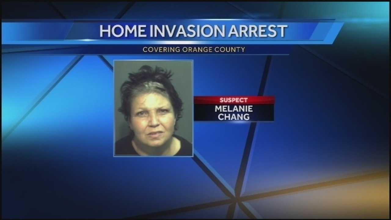 Melanie Chang, 52, was arrested after police say she knocked on an elderly woman's door, was let inside the home and demanded money.