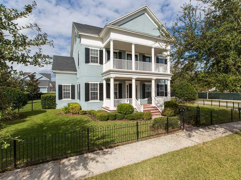 The beautiful corner property in Orlando has six bedrooms, eight bathrooms and so much more.