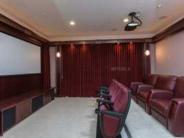 Luxurious home theater.