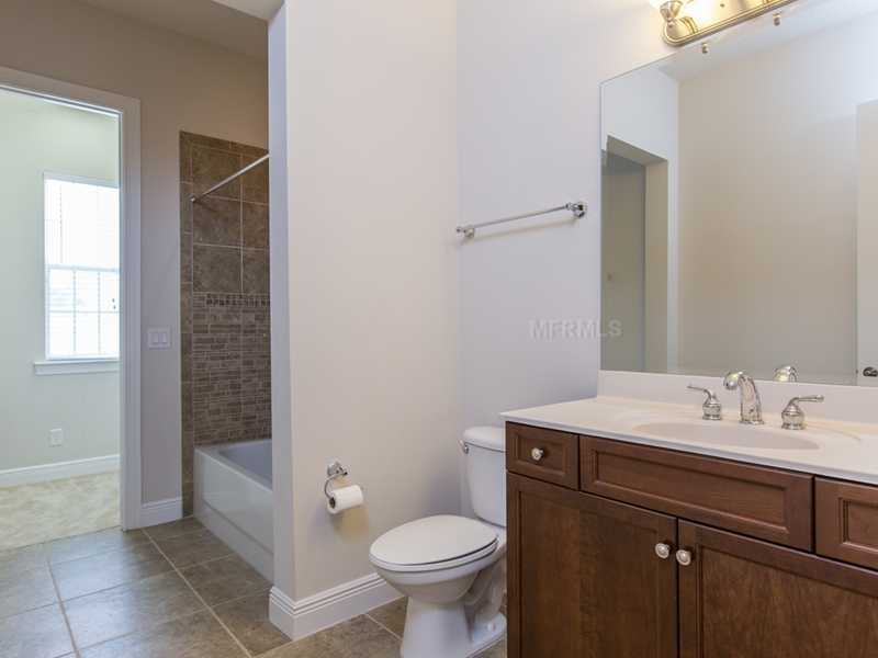 Renovated and spacious bathroom in the private quarters.