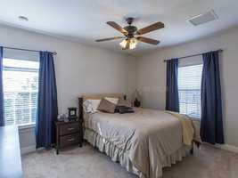 Generous bedroom.