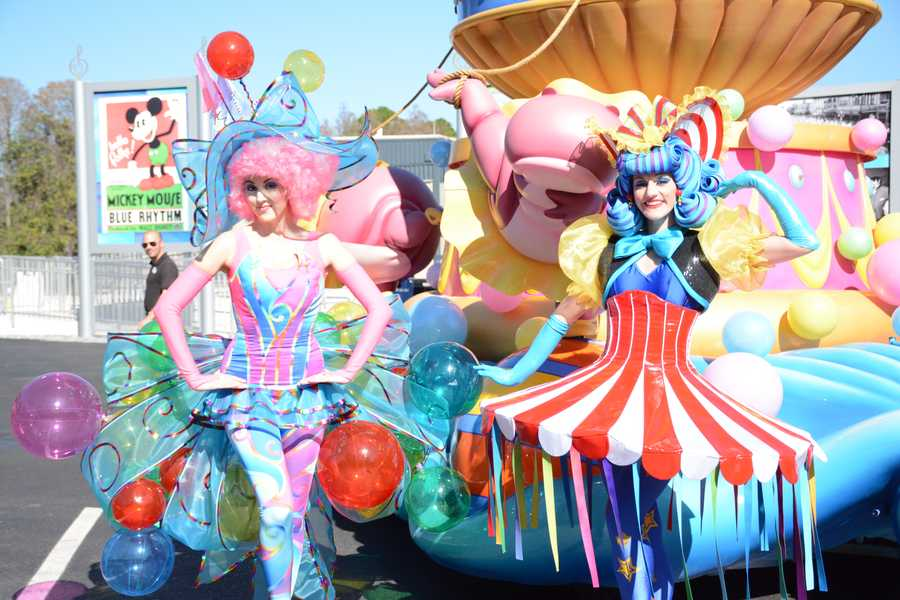 """Magic Kingdom will host the new Disney """"Festival of Fantasy Parade"""" in March. We got an up close look at the intricate designs of the costumes that will appear during the parade. (See pictures of the floats)"""
