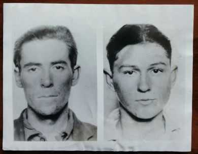 Bonnie Parker & Clyde Barrow authentic associated press photo from 1933. Bonnie and Clyde were responsible for 13 murders: $325