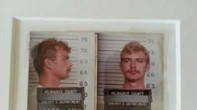 Jeffrey Dahmer's first mugshots. Dahmer murdered 17 men and boys, and his murders involved rape, cannibalism, dismemberment, and necrophilia: $1,550