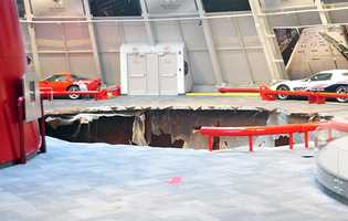 Eight vehicles were damaged by a sinkhole at the National Corvette Museum in Bowling Green.