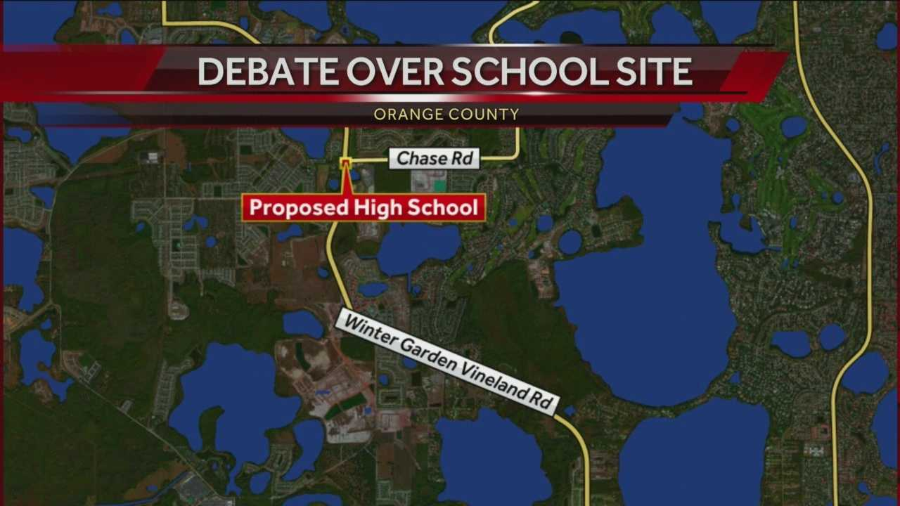 Commissioners and school board officials can't agree on a location for a new high school on the west side of Orange County.