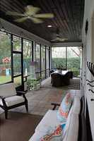 Screened-in porch.